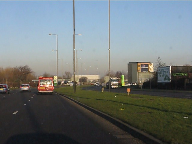 East Lancashire Road (A580) leaving Liverpool