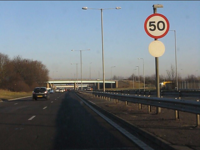 Speed limit changes on the A580