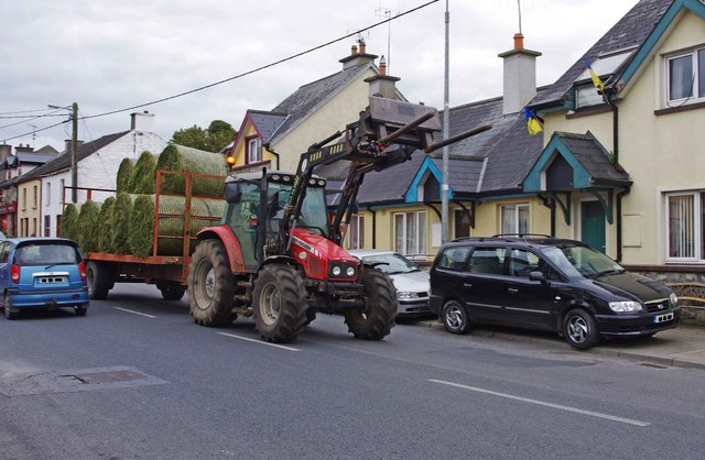 Massey Ferguson tractor in Main Street, Golden, Co. Tipperary