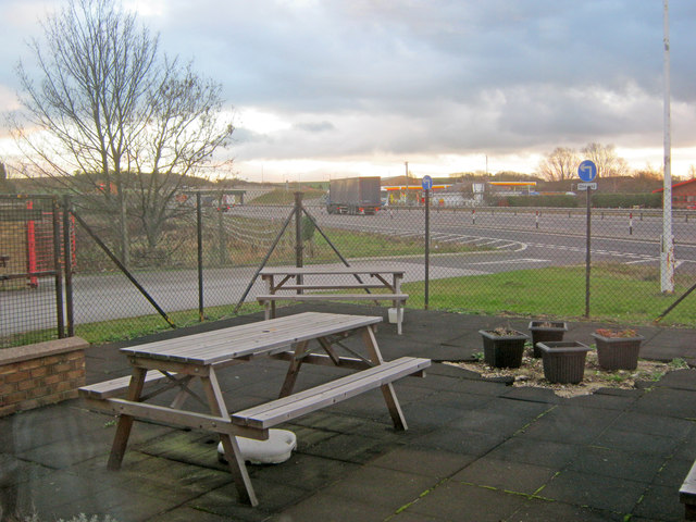 Benches at the Markham Moor Little Chef