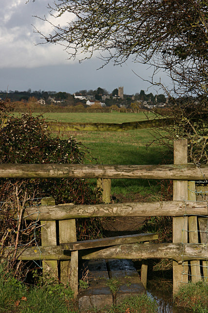 Langport from the footpath to Drayton