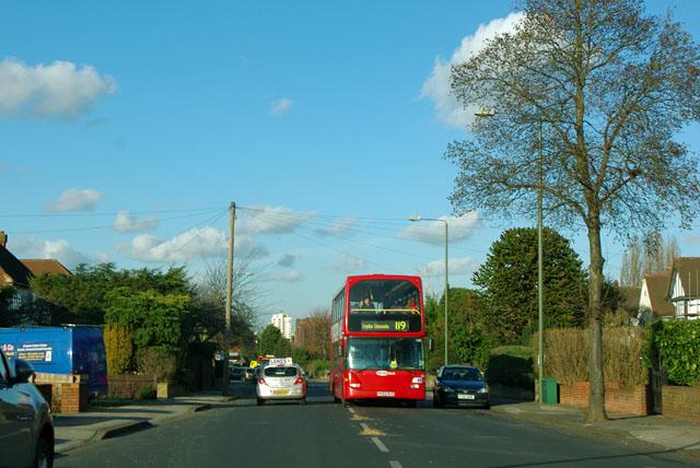 119 bus on Hayes Lane