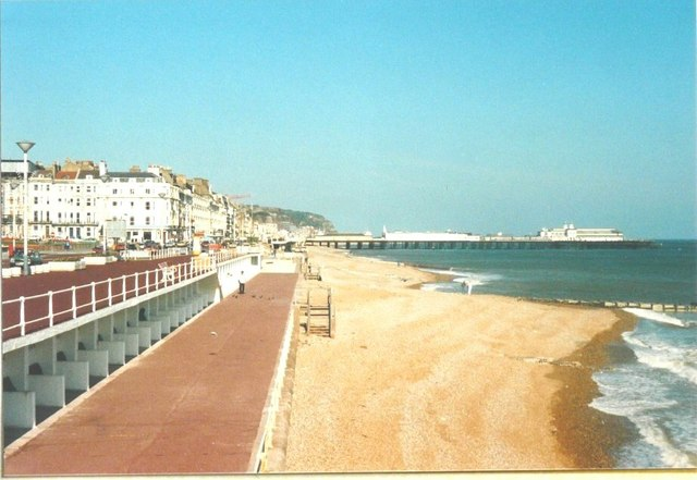 The beach at St Leonards on Sea in 1988