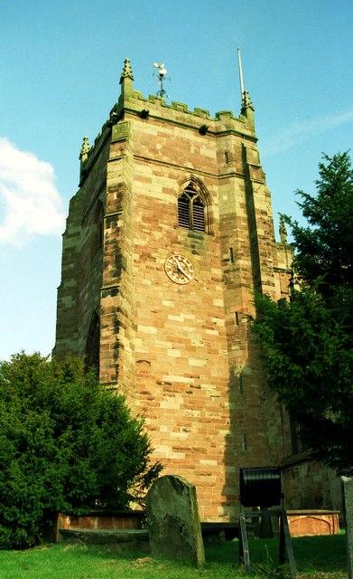 The Tower of St Oswald's Church, Malpas
