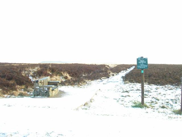 Winter on Slaithwaite Moor