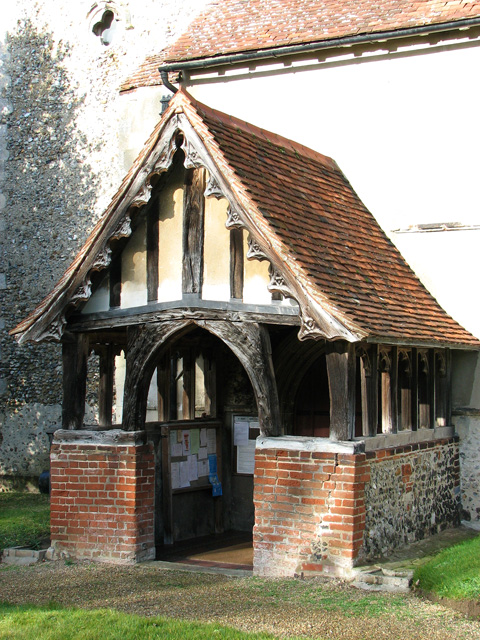 St Mary's church in Burstall - the porch