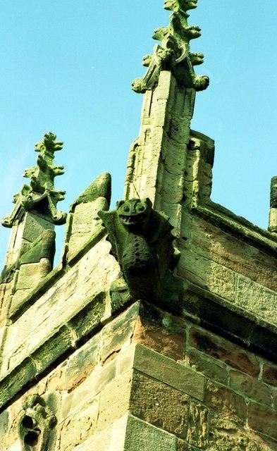 Gargoyle on St Oswald's Church, Malpas