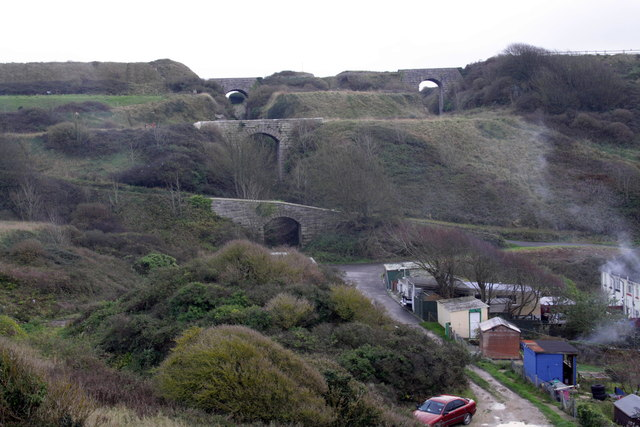 Bridges over incline to Waycroft Quarries