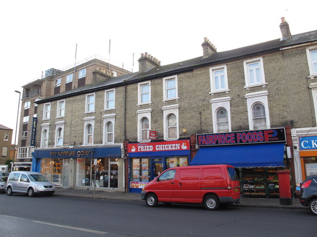 Shops and flats in Church Road, NW4