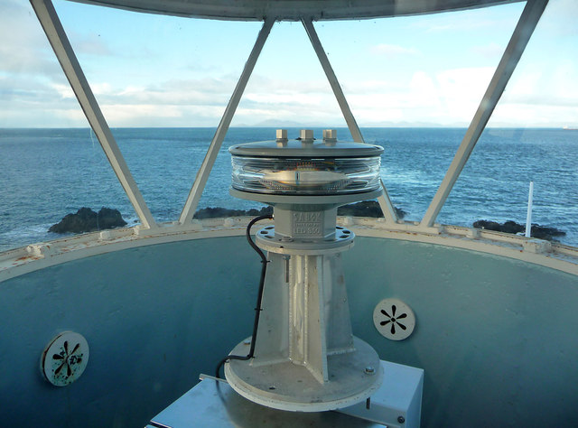 New lantern in the Waternish Point Lighthouse