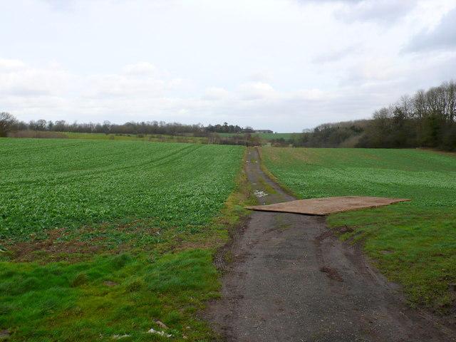 Footpath at Horsley House Farm