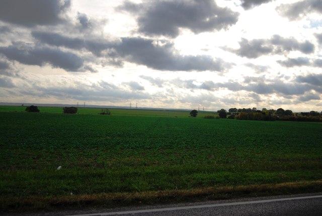 Farmland south of the A228