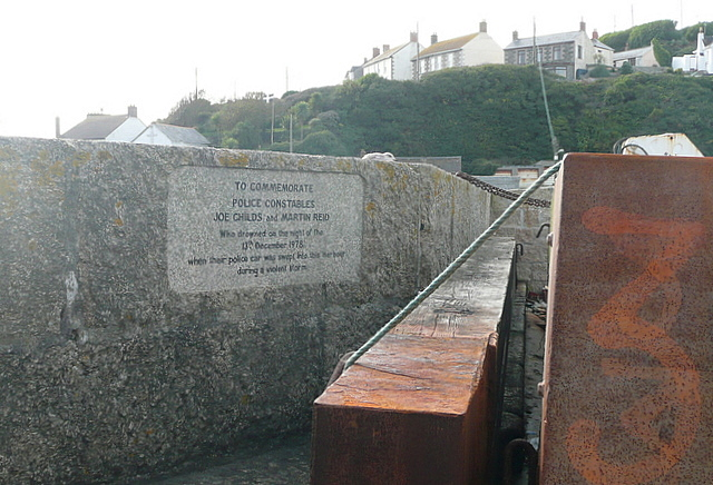 Memorial at Porthleven