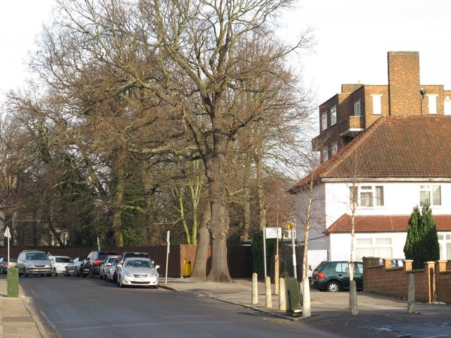 The southern end of Sunny Gardens Road, NW4