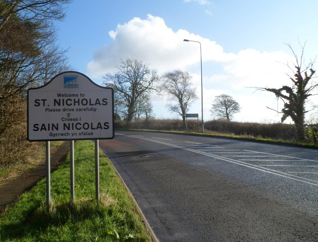 Western boundary of St Nicholas