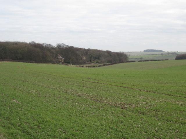 Wolds  Farmland  near  Thixendale  Grange