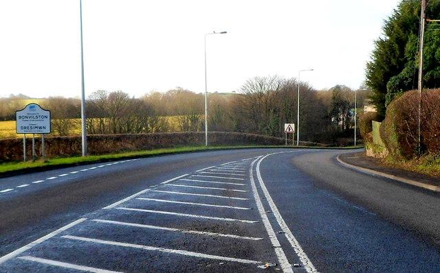 Eastern boundary of Bonvilston