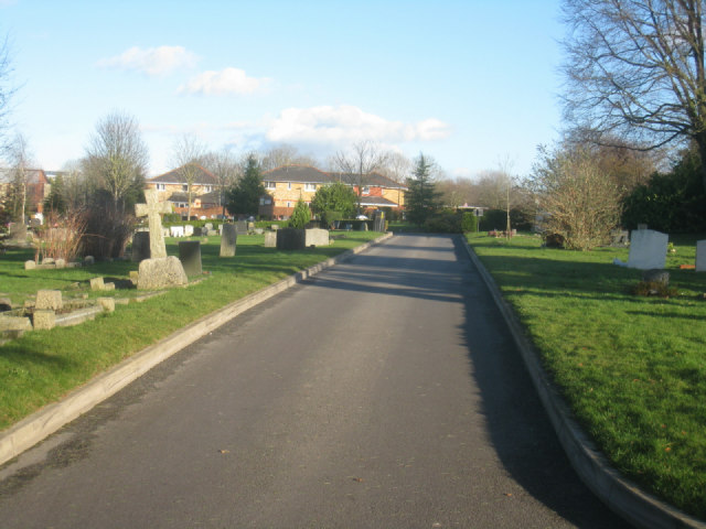 Road within Basingstoke cemetery