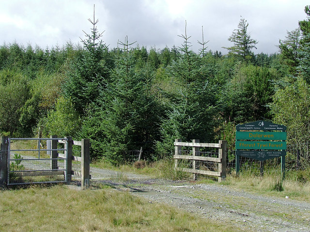 Entrance to the Dalarwen Plantation, Ceredigion