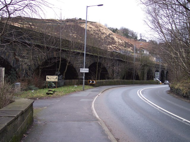Gauxholme Viaduct from Rochdale Road