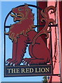 ST0674 : Heraldic pub sign, The Red Lion, Bonvilston by Jaggery