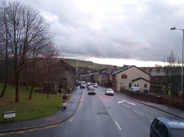 Hollin Lane joins Burnley Road at Rawtenstall