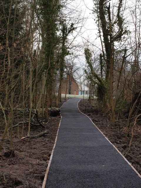 New footpath in Pollok Park