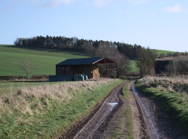 Track between Old Barn and New Barn
