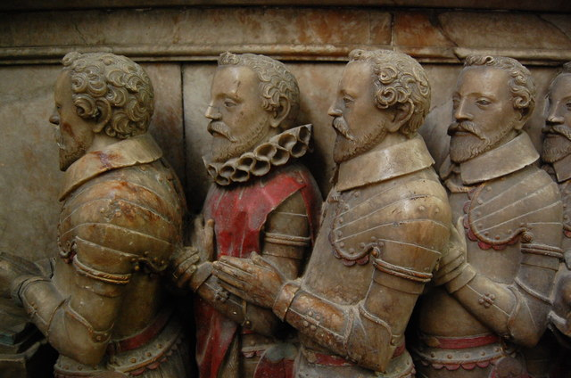 Sons of Thomas Smythe on memorial, St Mary's church