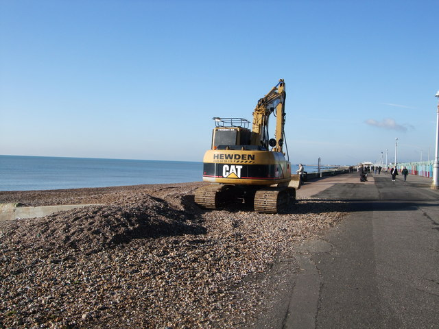 Excavator on Hove Beach