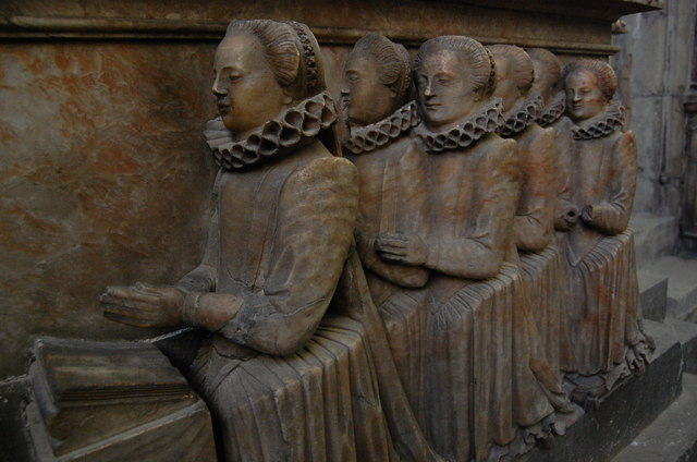 Daughters of Thomas Smythe, memorial, St Mary's church