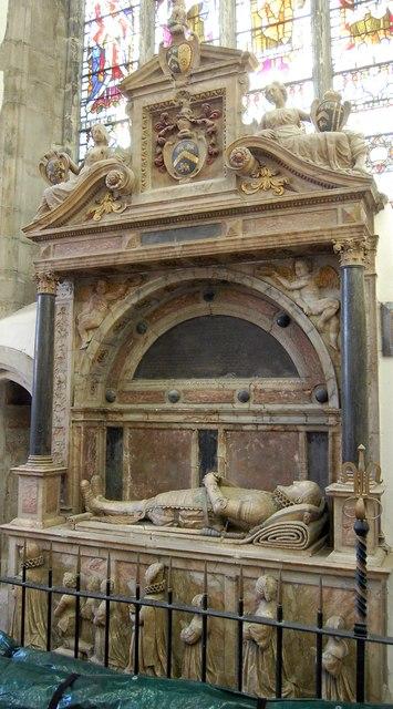 Memorial to Sir Richard Smythe, St Mary's church, Ashford