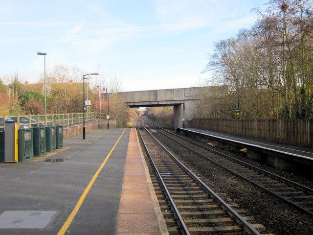Bromsgrove Station Platform One Looking North
