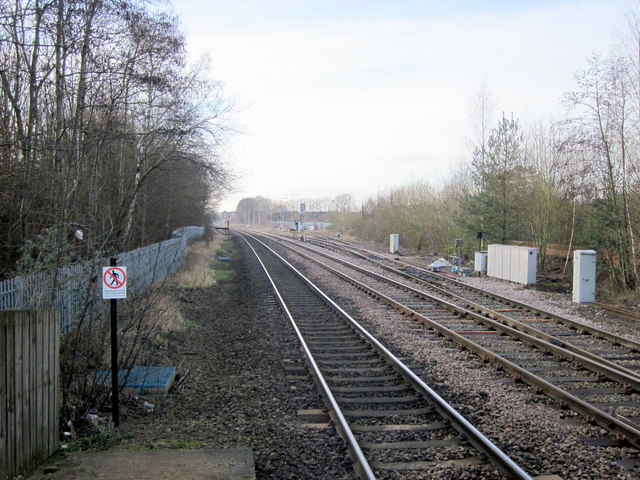 Bromsgrove Station South From Platform Two