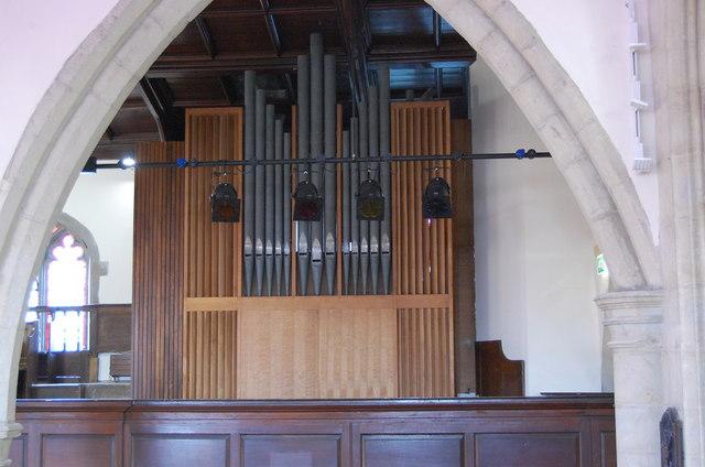Nave Organ, St Mary's church, Ashford