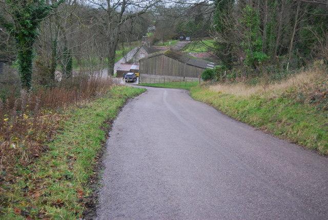 Longland's Lane approaching Littlebredy
