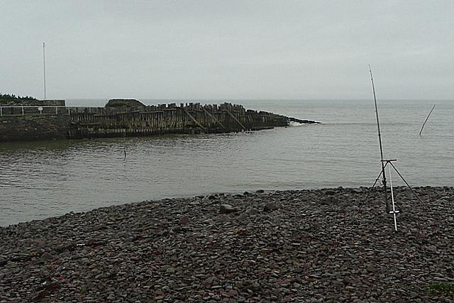 Fishing at Porlock Weir