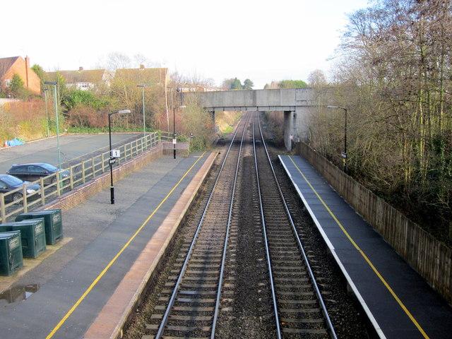 Bromsgrove Station Northwards From Footbridge