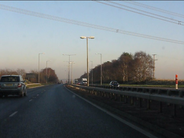 Power lines cross the East Lancashire Road