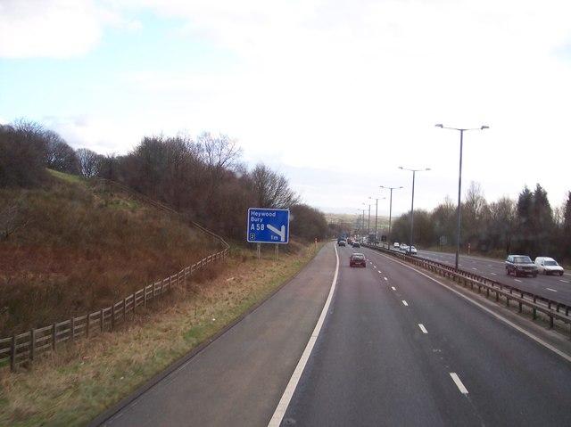 M66 Motorway southbound near Bury
