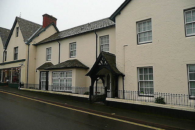 Houses on Porlock High Street