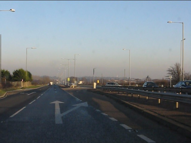 Sadler's Lane/ Catchdale Moss Lane junction, A580