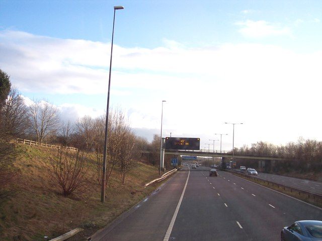 M66 approach to M60 motorway junction