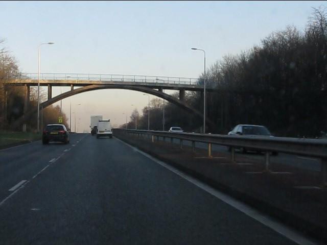 Windle Hall bridge, A580