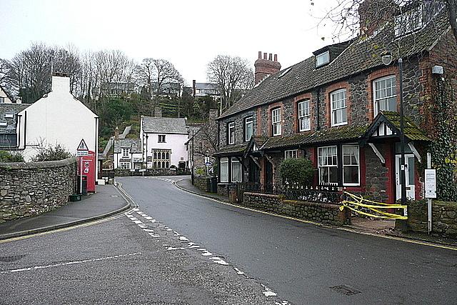 Houses on Porlock High Street
