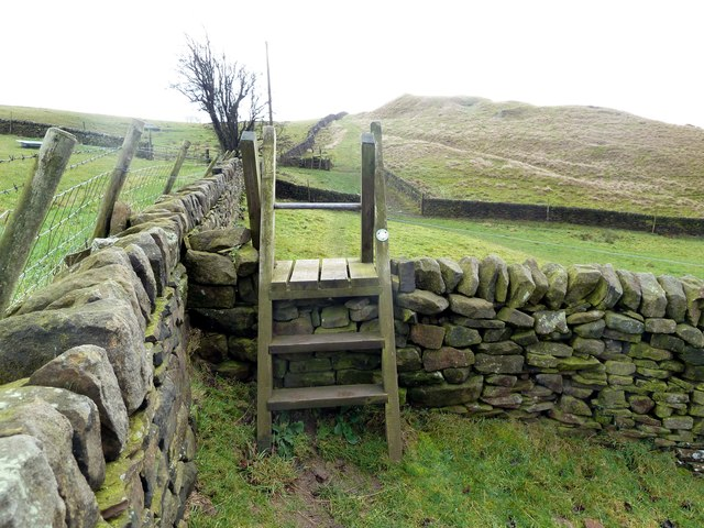Ladder Stile on Castle Hill