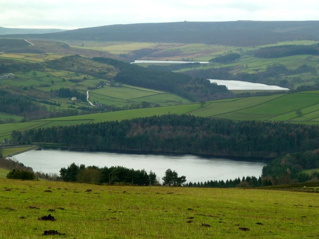 Three Reservoirs in the Loxley Valley