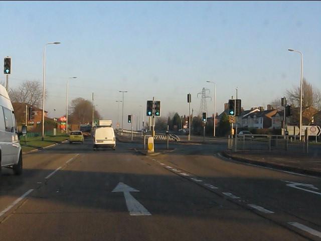 A580 at Green Leach Lane junction