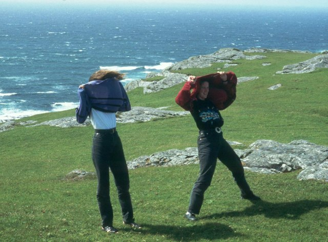 Gale force at Greian Head