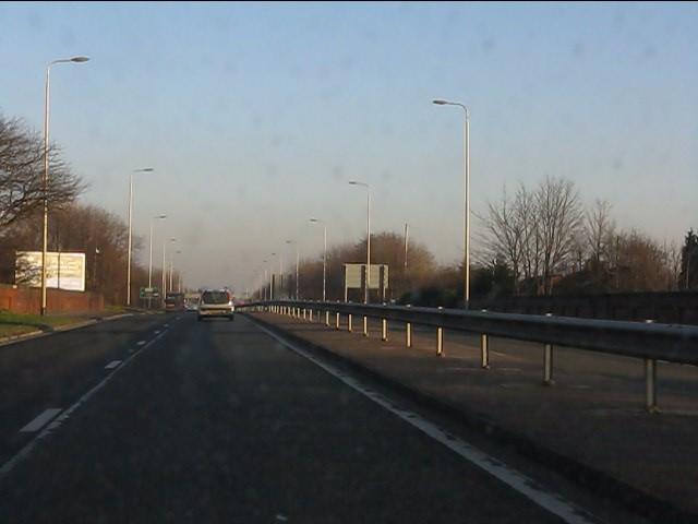 A580 at Piele Road bridge